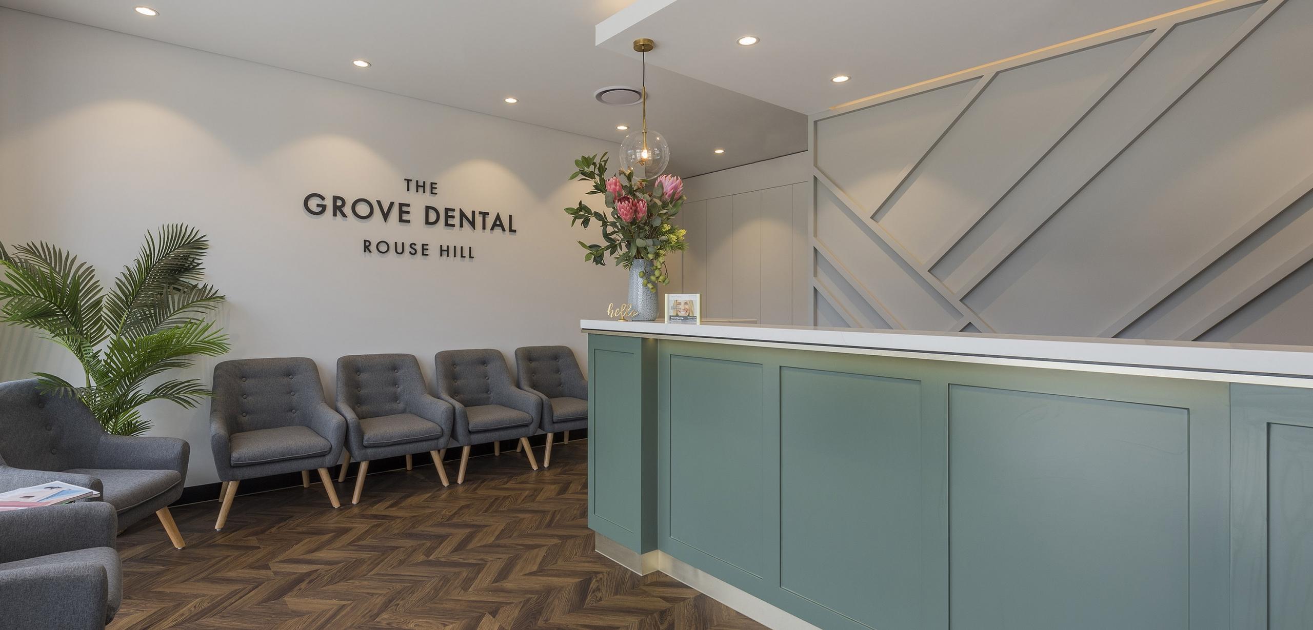 the grove dental rouse hill dental reception area